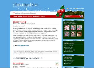 Новогодние и рождественские темы для WordPress