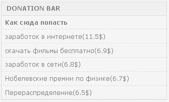 donation bar