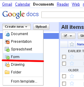 google form, создаем анкету на сайте