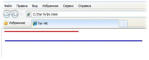 Как создать разные варианты горизонтальной линии в HTML